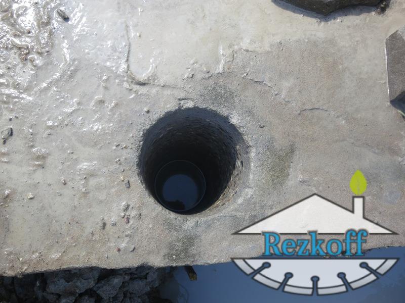 Фото алмазного бурения бетона